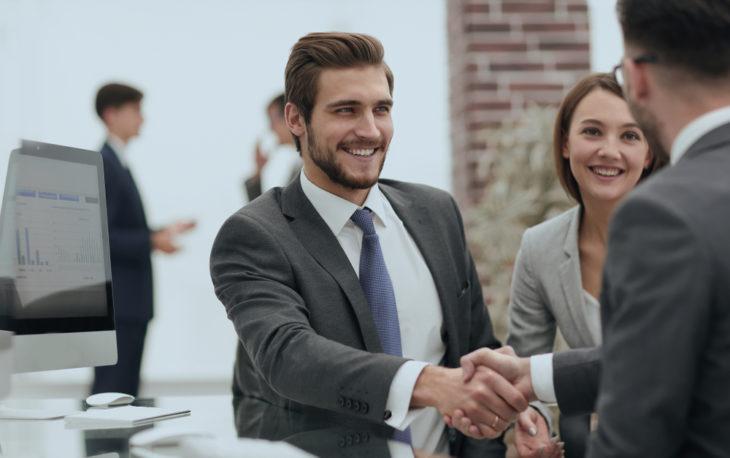 parceria de negócios