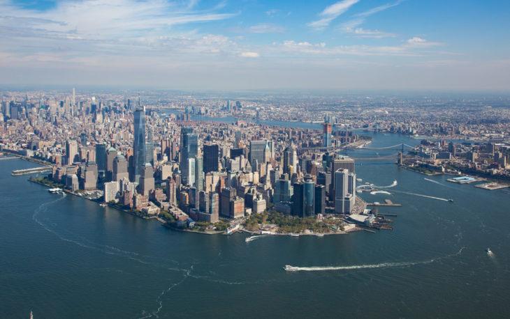 Como montar uma franquia de serviços: imagem área de Nova York
