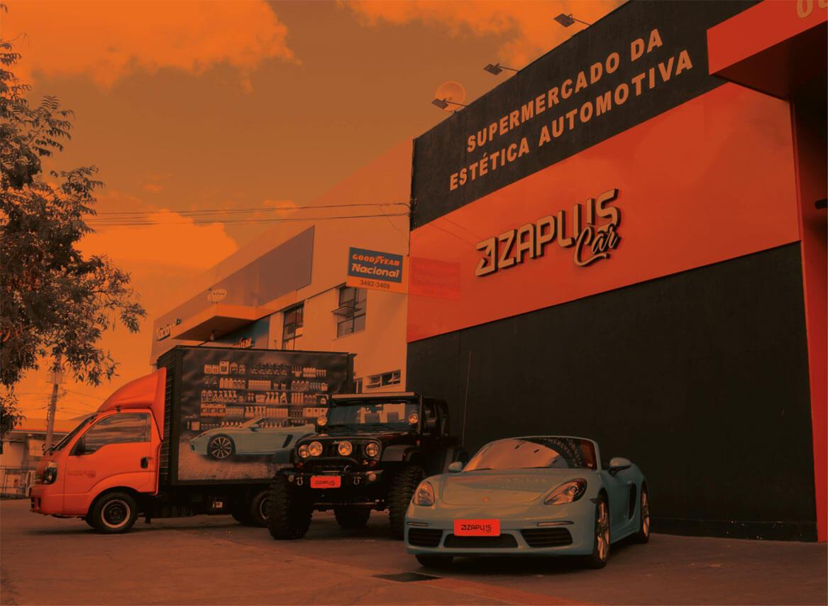 Imagem da fachada da franquia Zaplus Car.